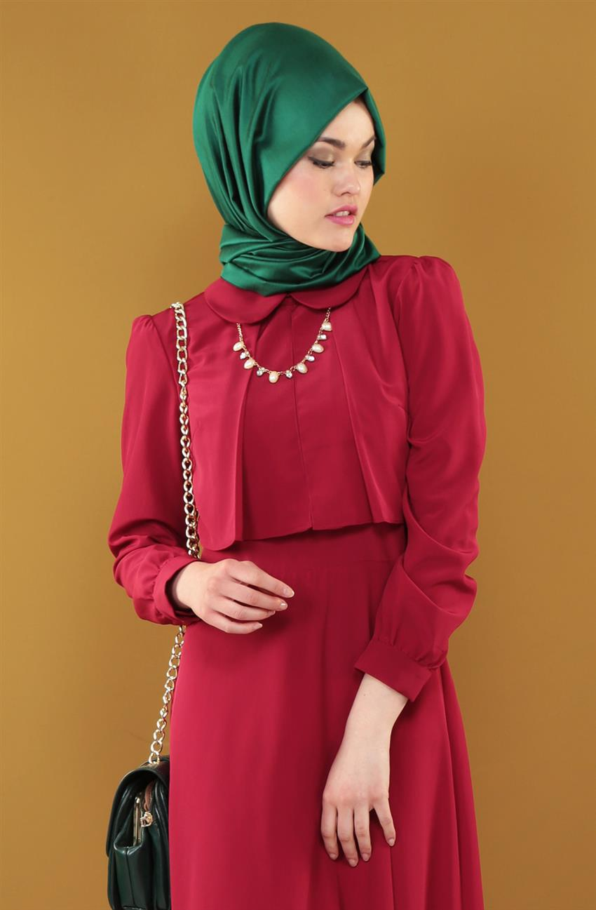 Dress-Claret Red ARM7037-67 - 5