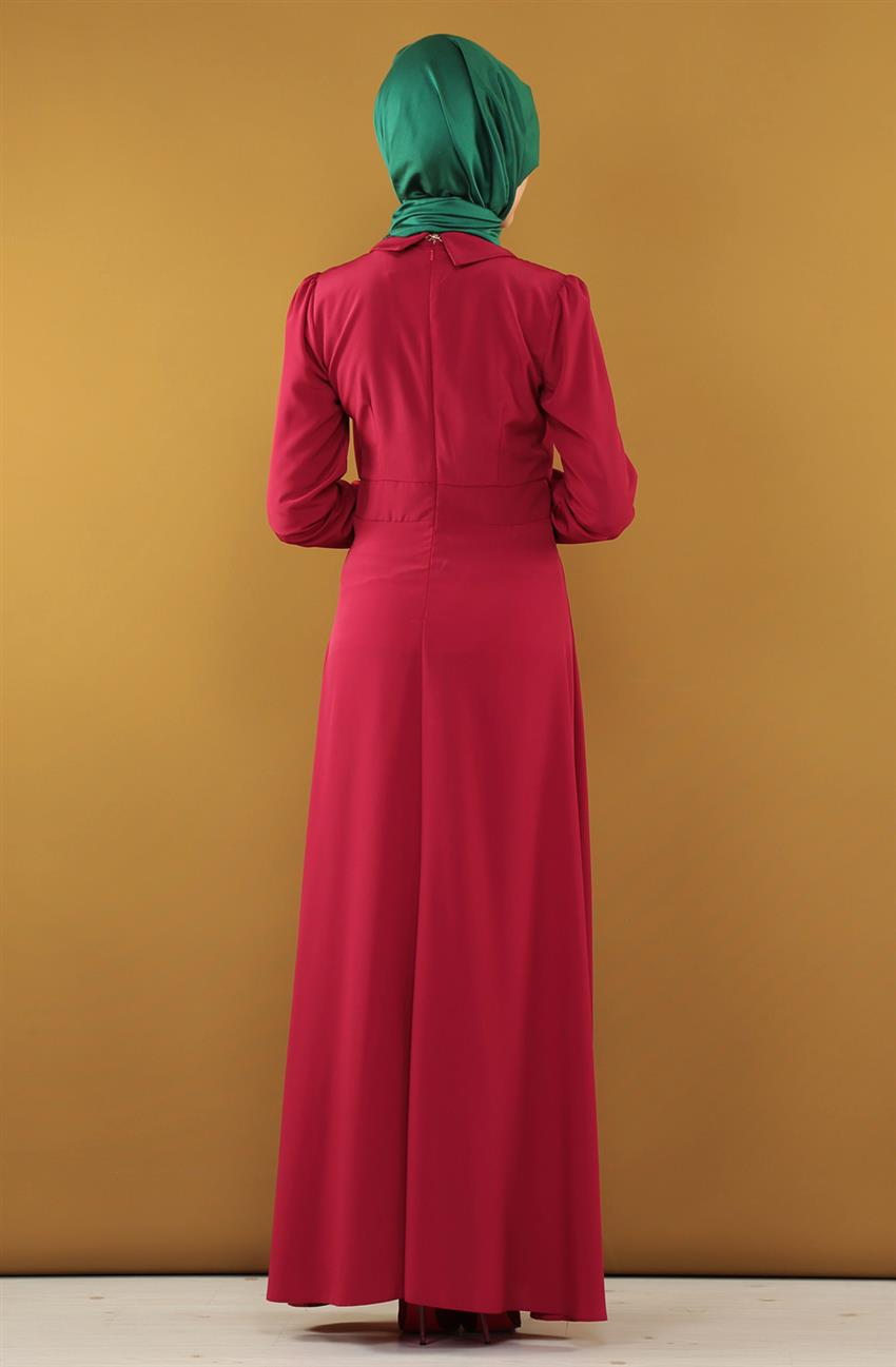 Dress-Claret Red ARM7037-67 - 6