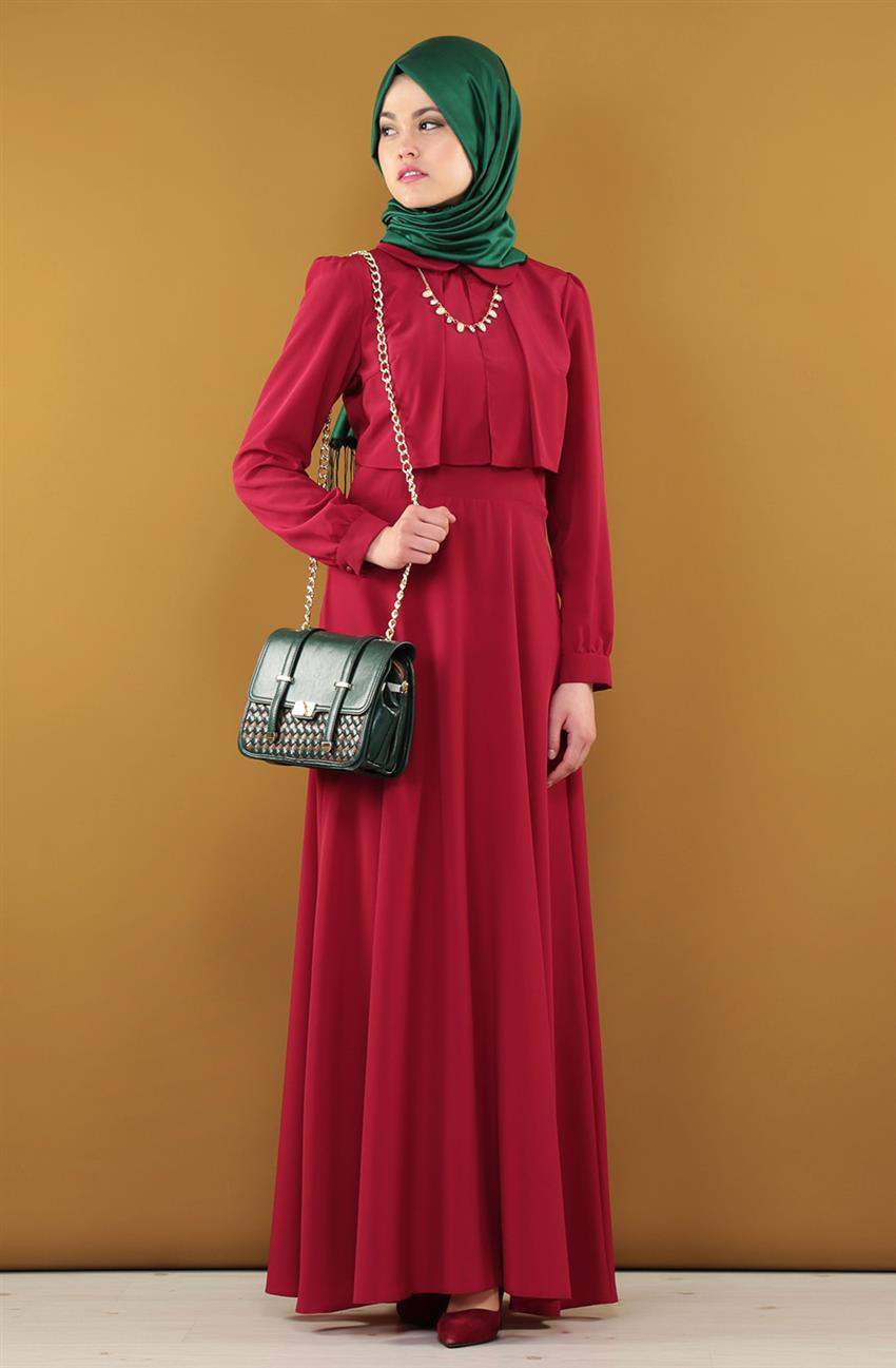 Dress-Claret Red ARM7037-67 - 4
