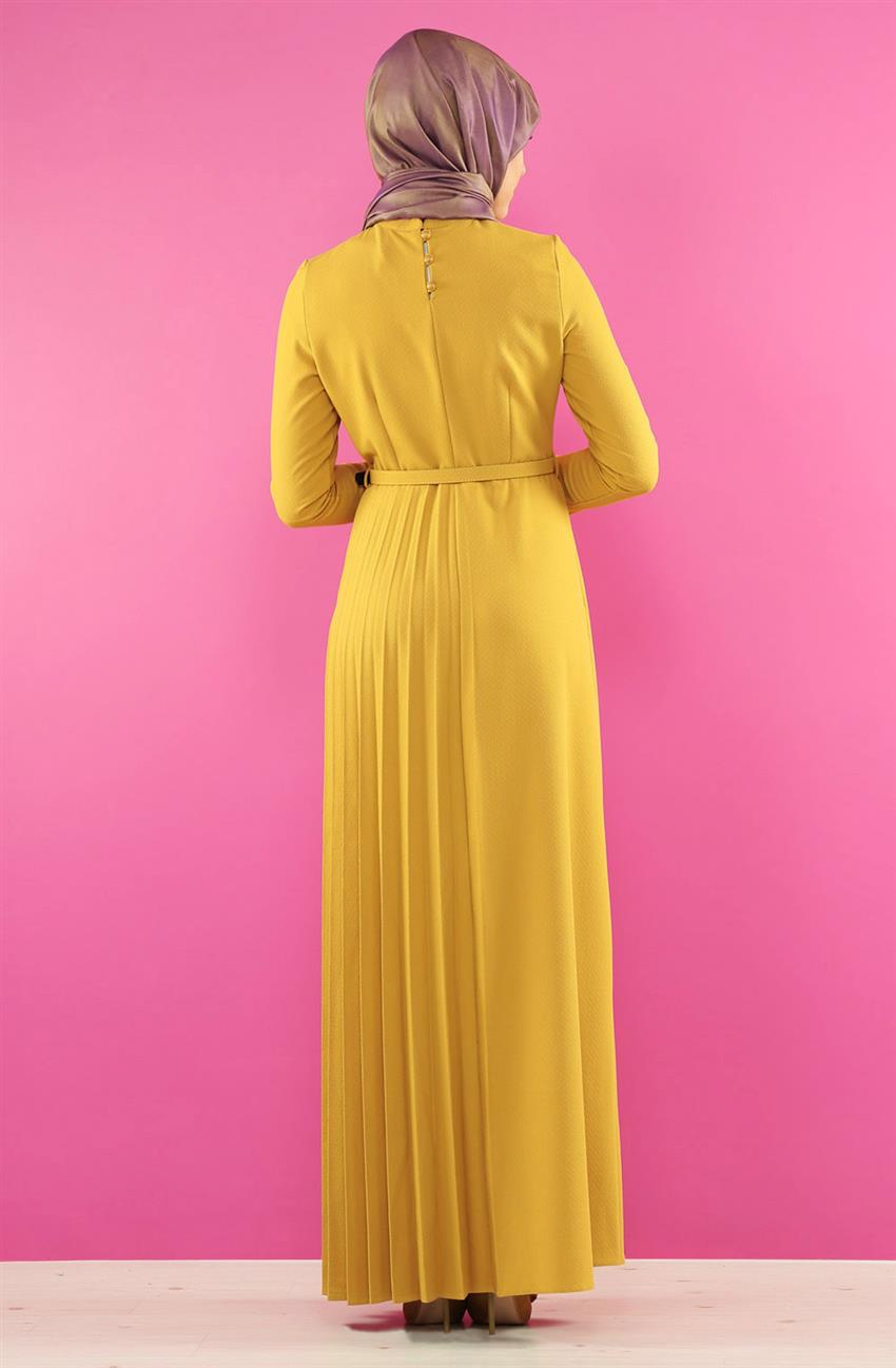 Dress-Saffron 7065-74 - 6