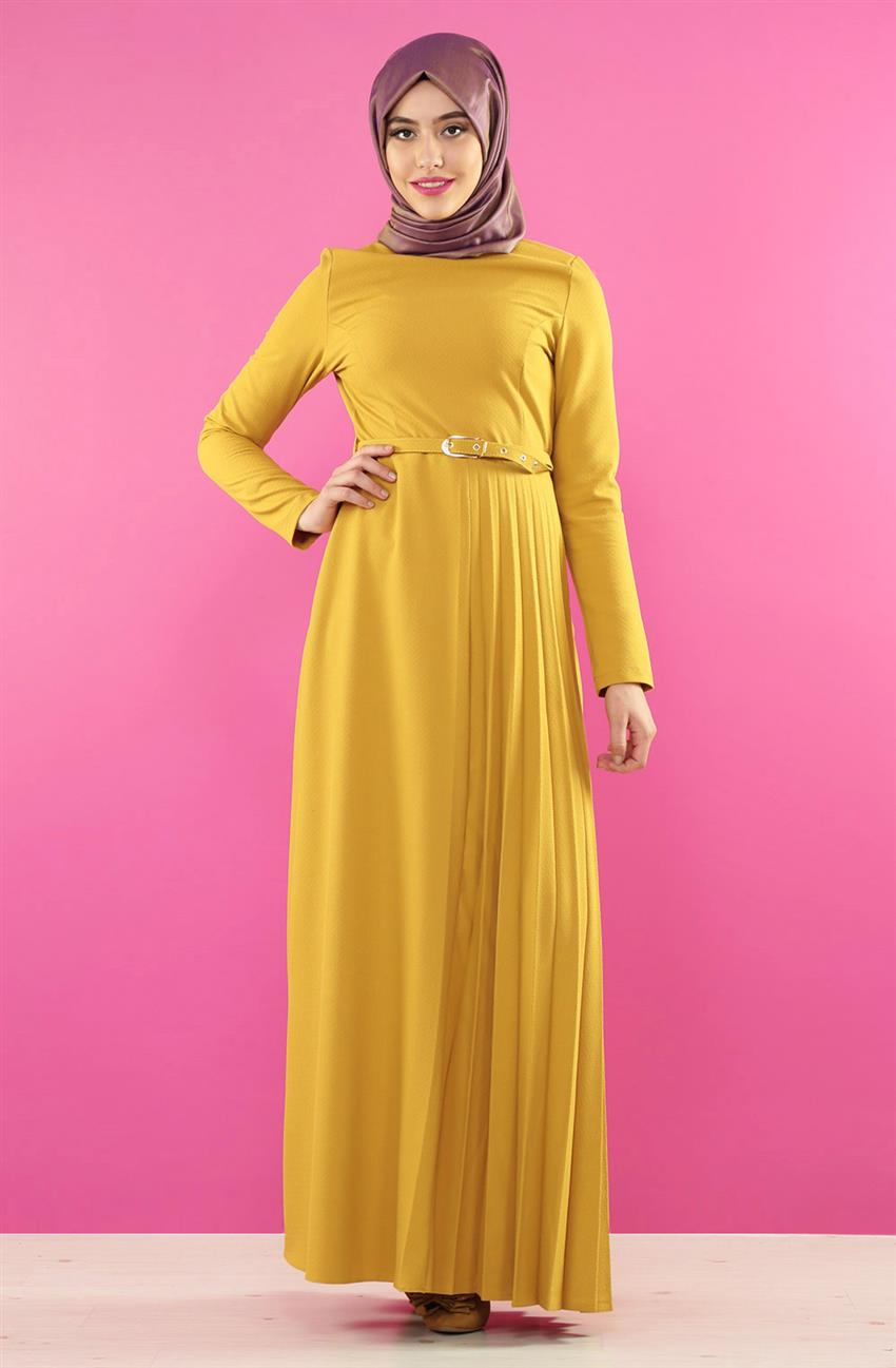 Dress-Saffron 7065-74 - 4