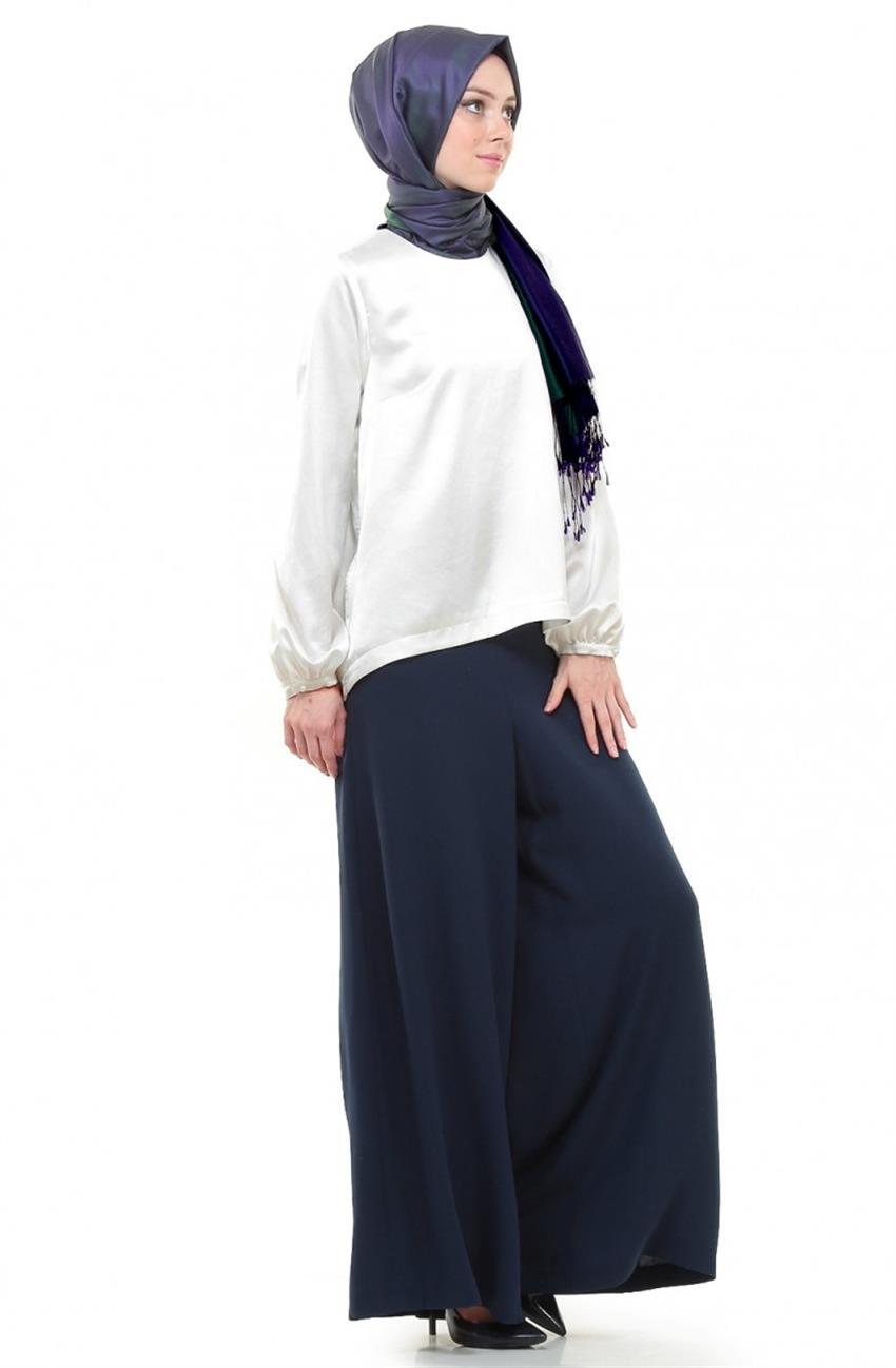 Pants Skirt-Navy Blue DO-B5-59002-11 - 3
