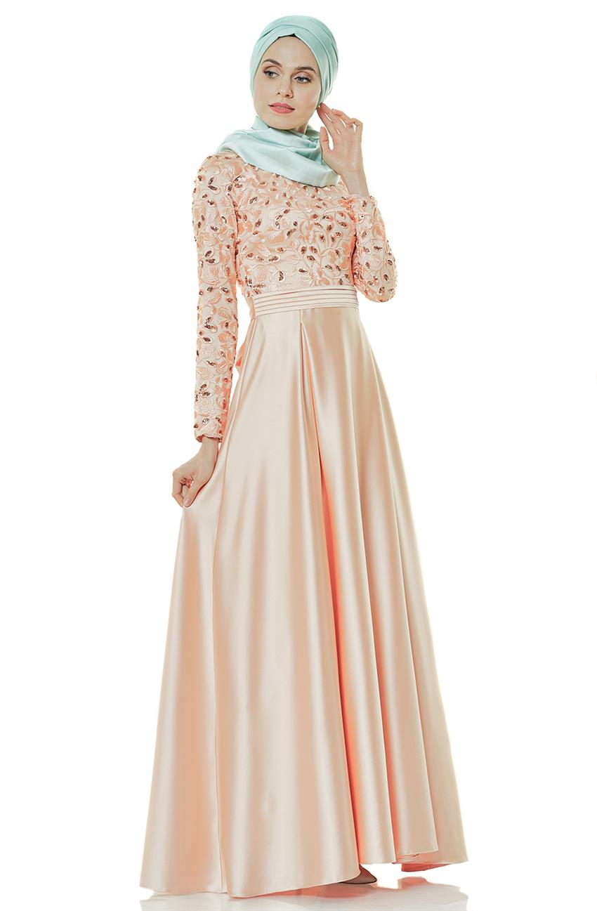 Evening Dress Dress-Salmon 2145-73 - 12