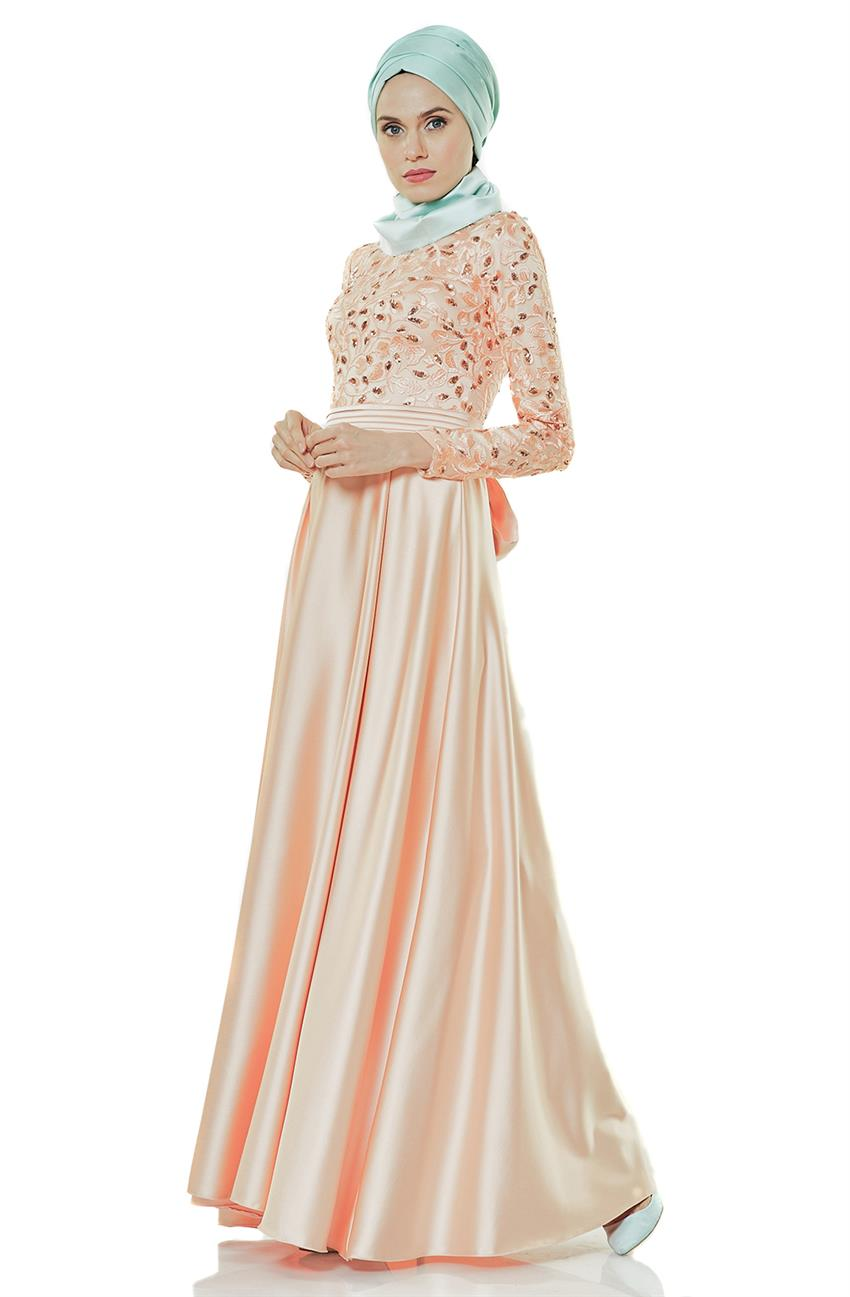Evening Dress Dress-Salmon 2145-73 - 10