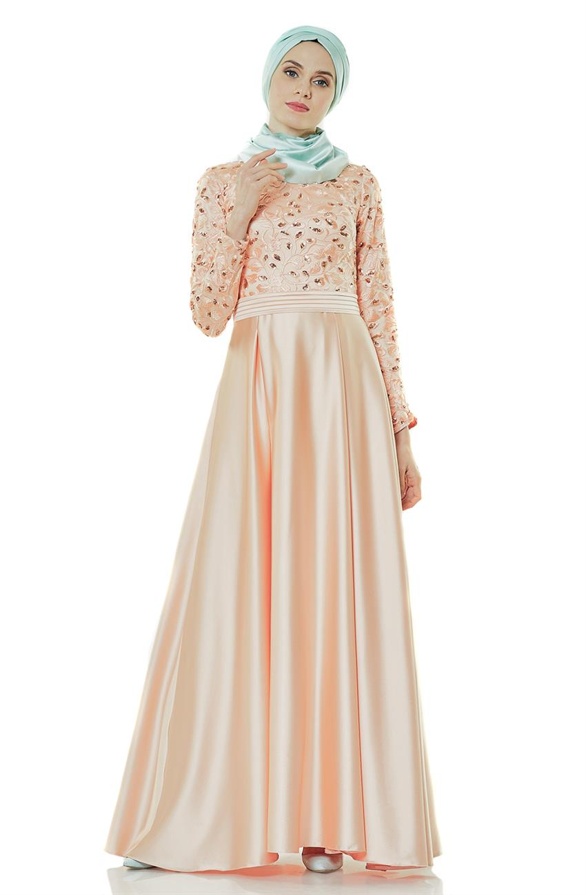 Evening Dress Dress-Salmon 2145-73 - 8