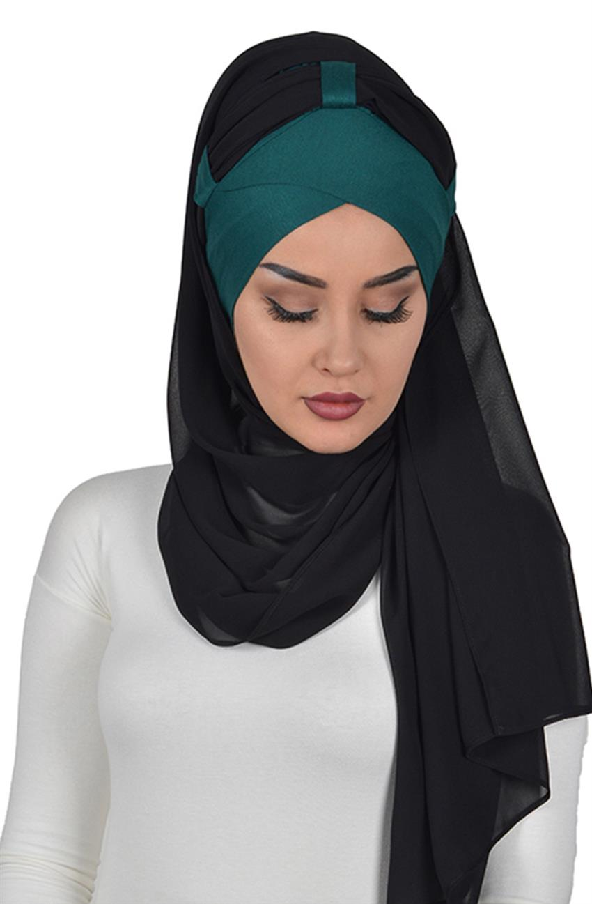 Shawl-Dark Green-Black Bs-0001-14-14 - 7