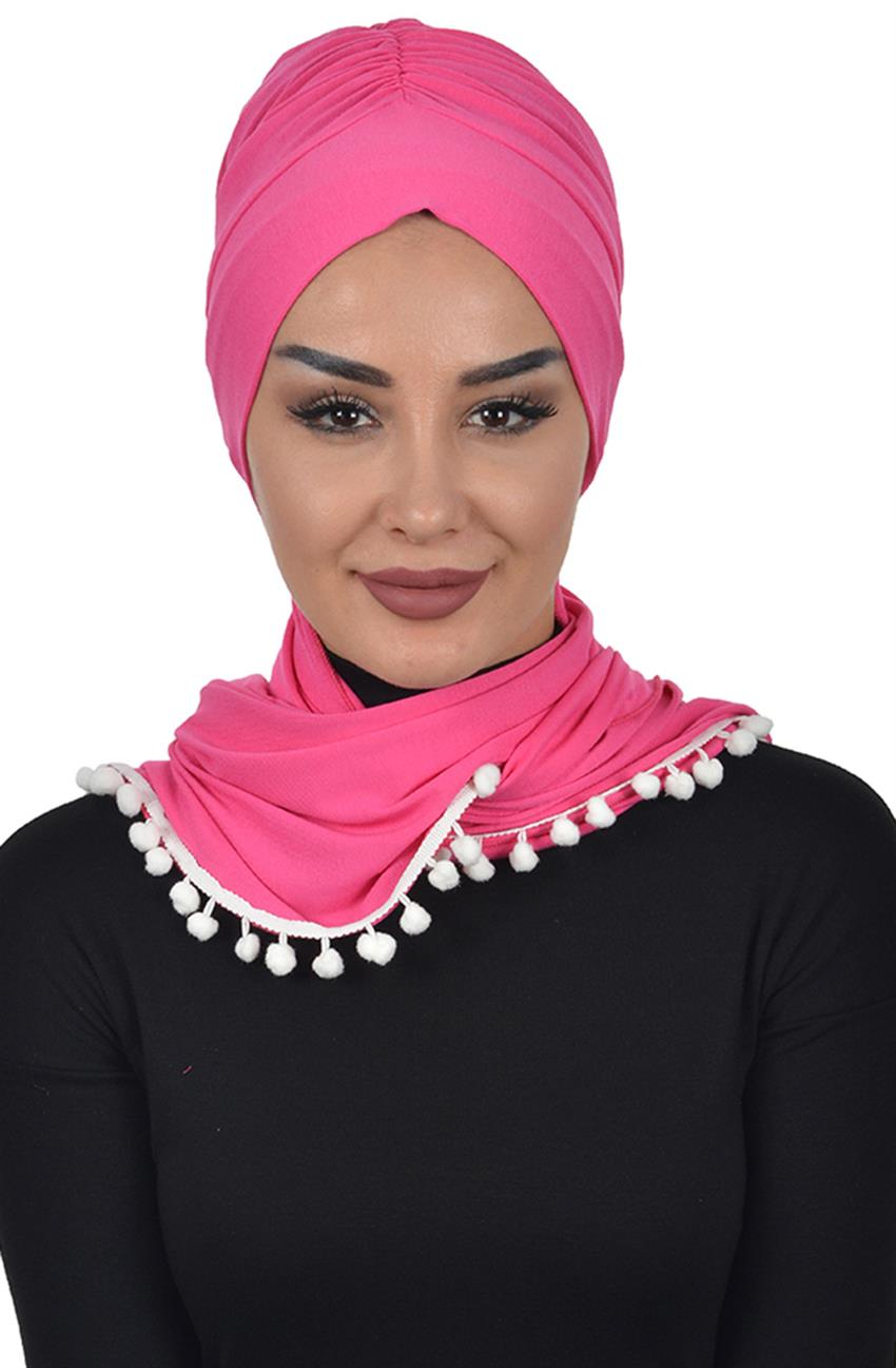 Bonnet Shawl-Fuchsia Bt-0002-10 - 8