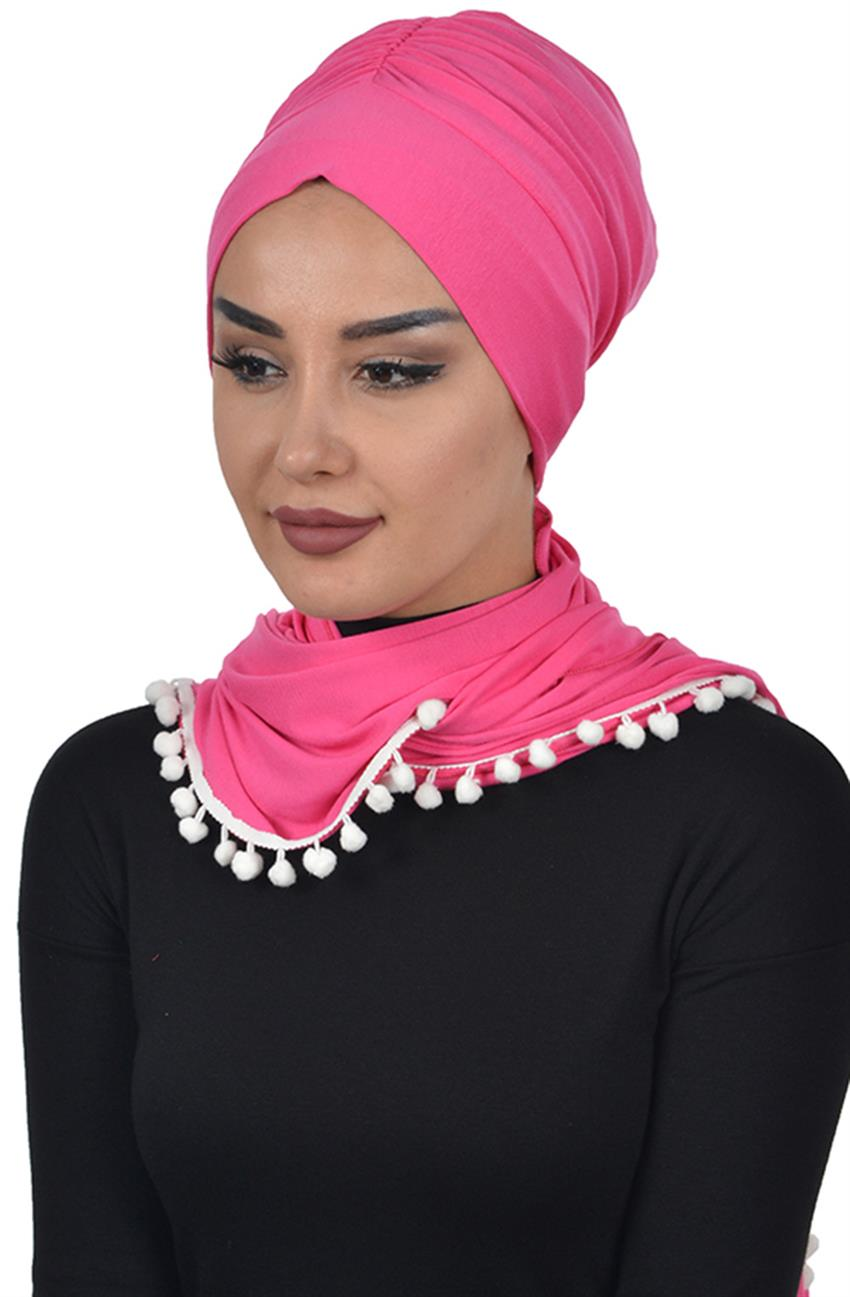 Bonnet Shawl-Fuchsia Bt-0002-10 - 5