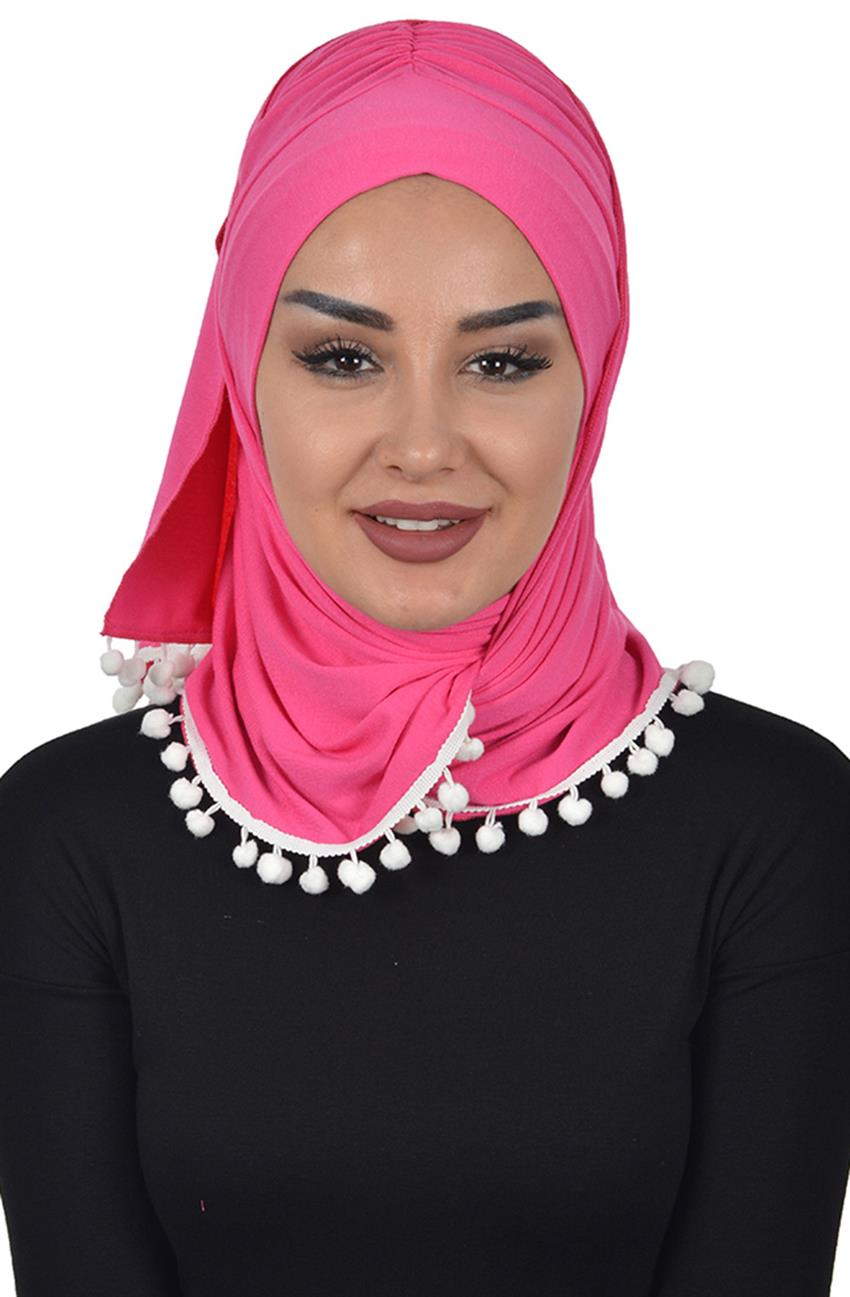 Bonnet Shawl-Fuchsia Bt-0002-10 - 6