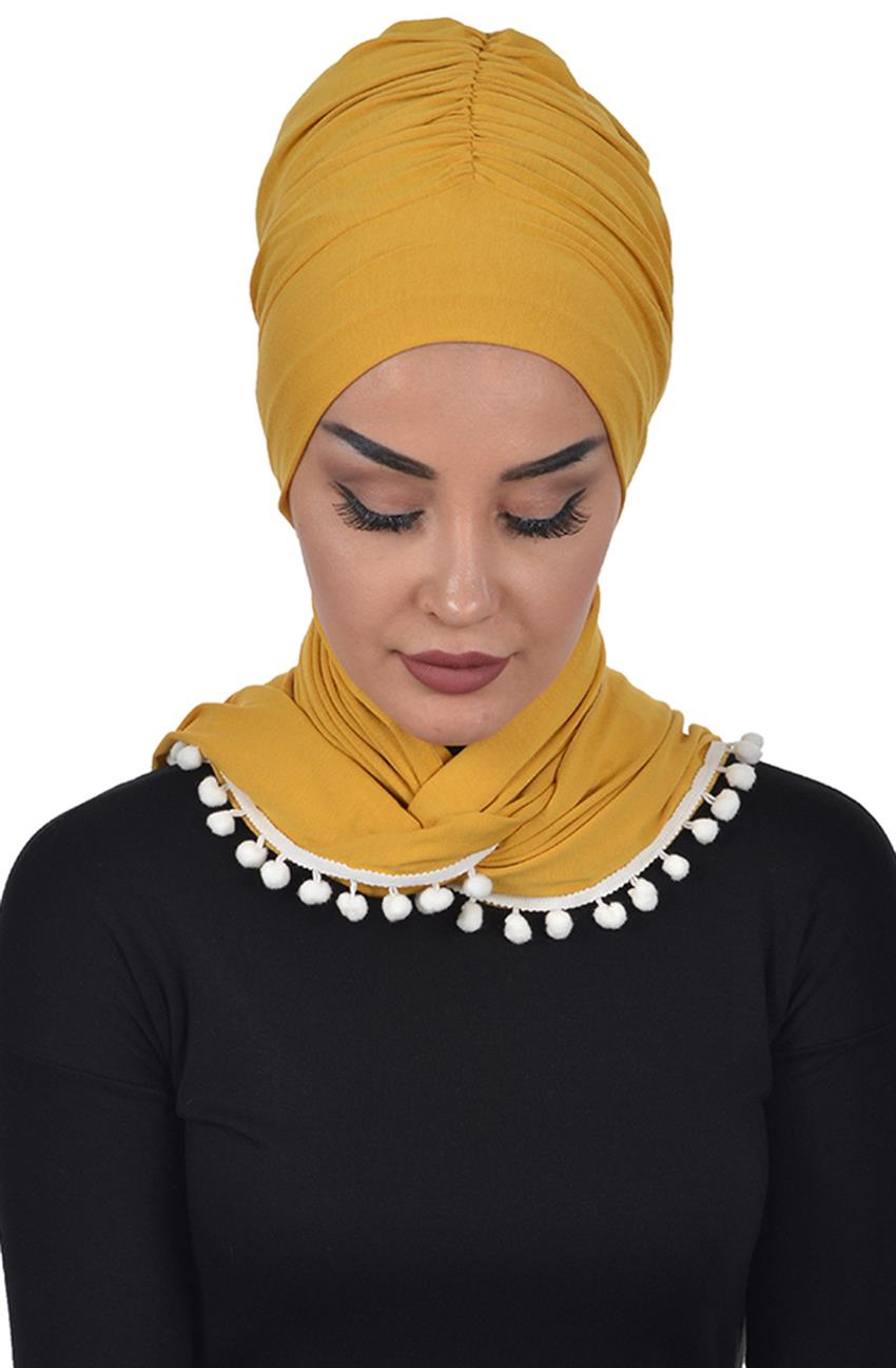 Bonnet Shawl-Mustard Bt-0002-11 - 8