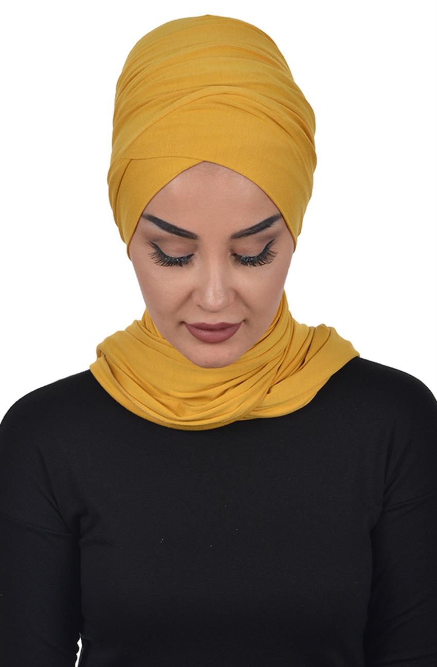 Bonnet Shawl-Mustard Bt-0003-11 - 8
