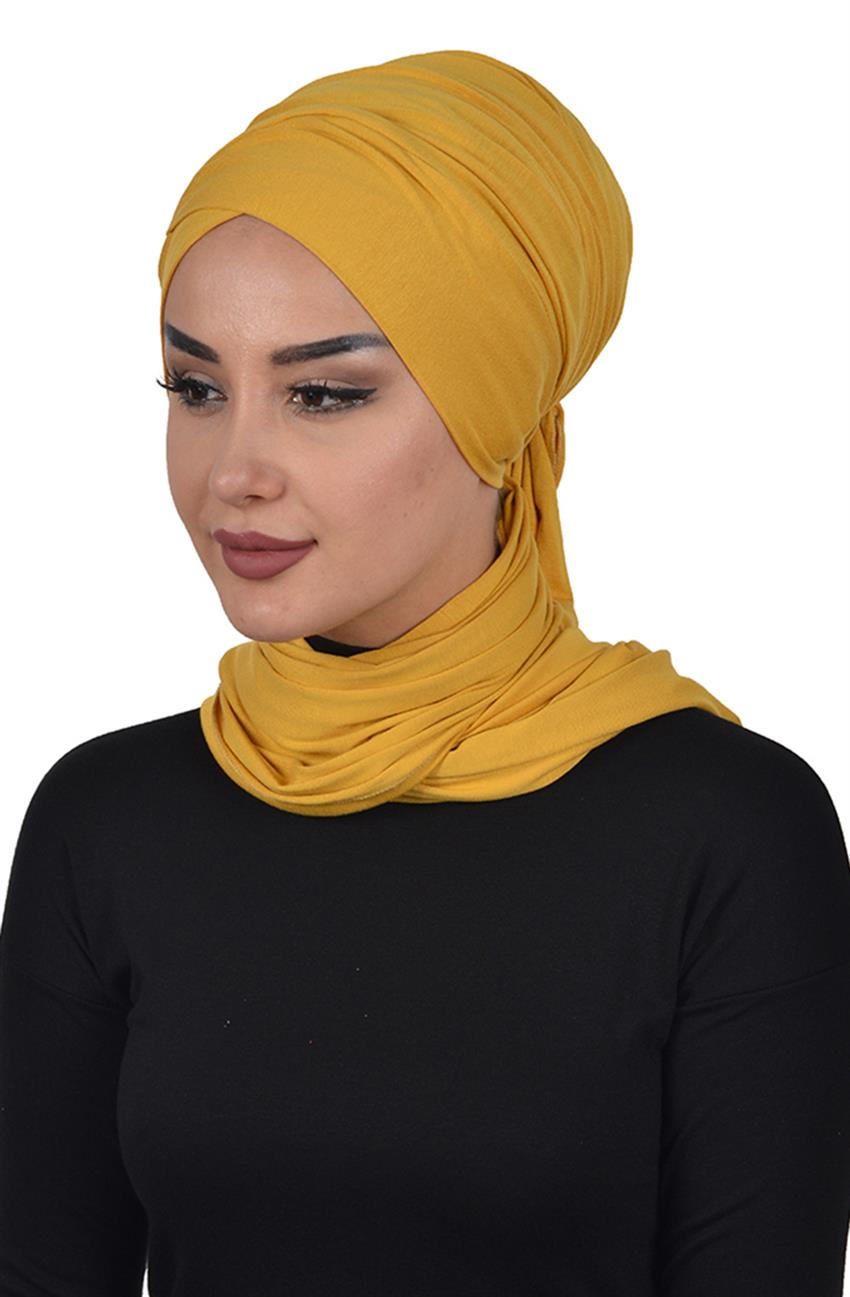 Bonnet Shawl-Mustard Bt-0003-11 - 5