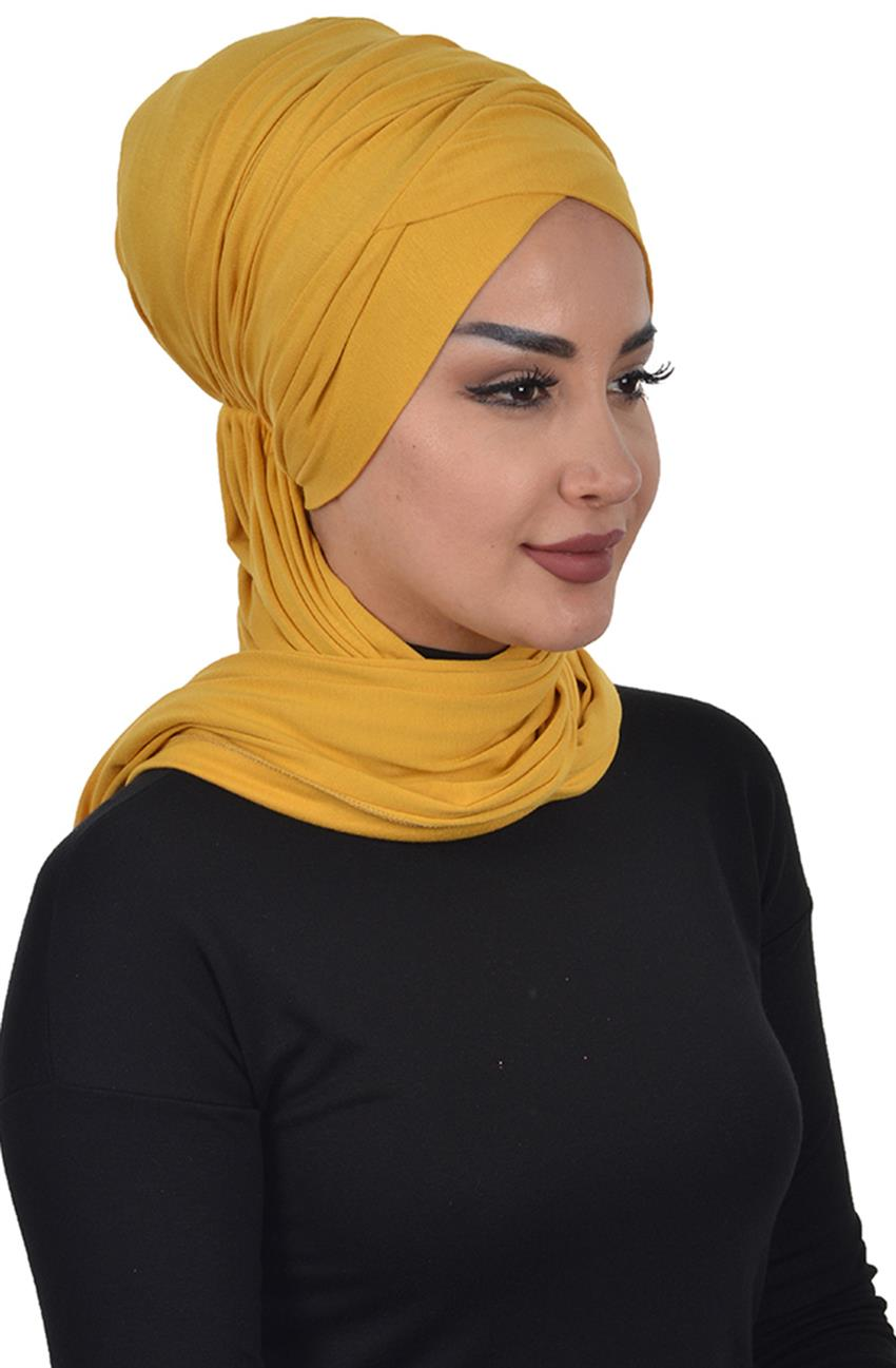 Bonnet Shawl-Mustard Bt-0003-11 - 7
