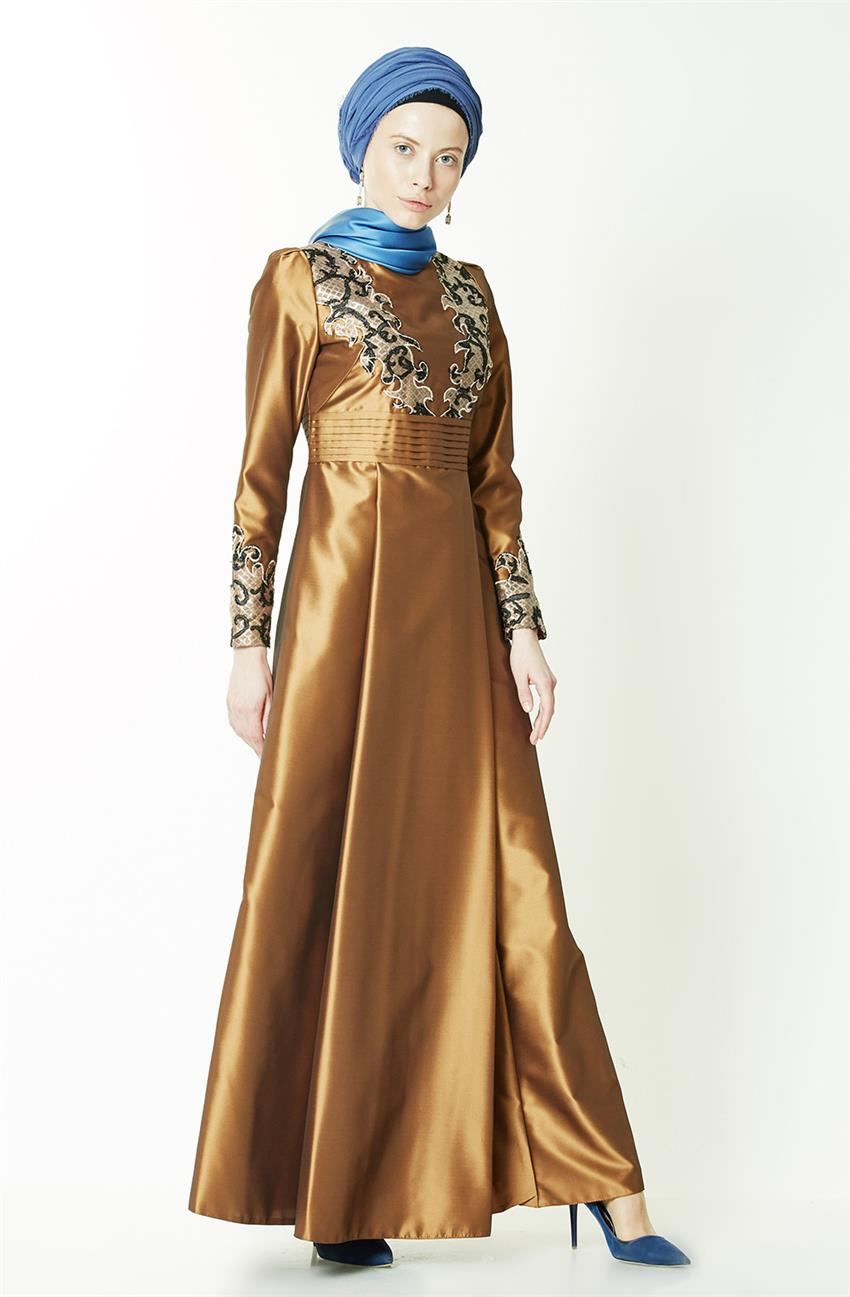 Evening Dress-Gold KA-B7-23049-63 - 9