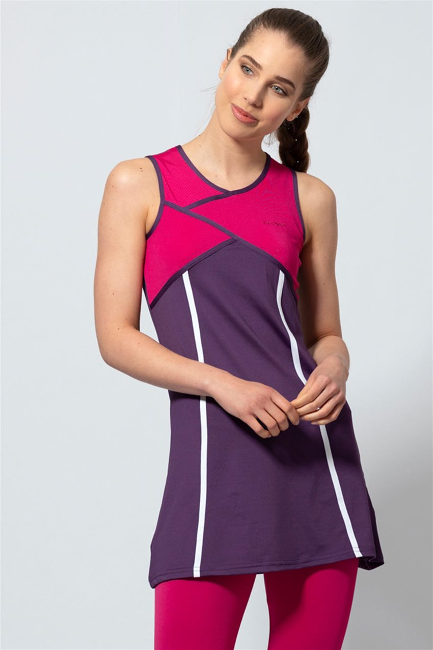 Covered Swimsuit-Purple 1809-45 - 8