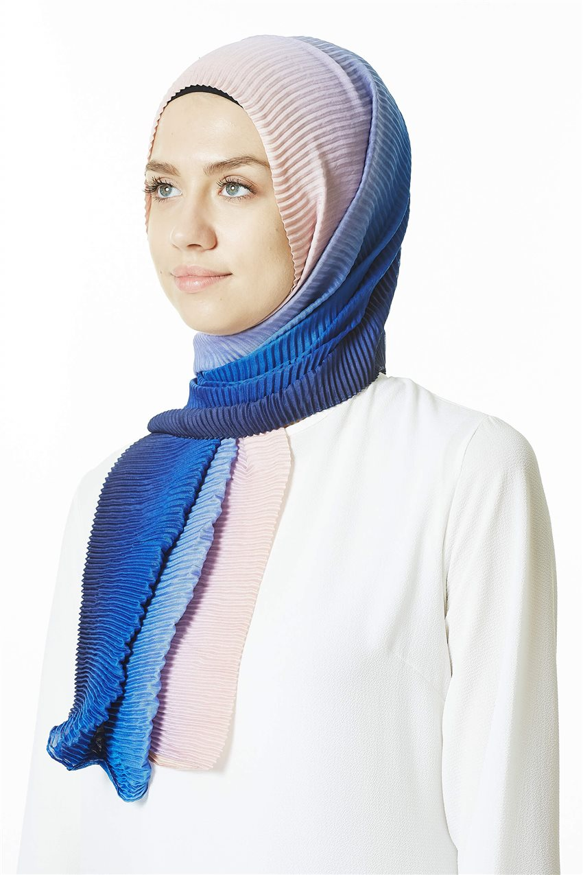 Shawl-07 Blue-Powder - 5