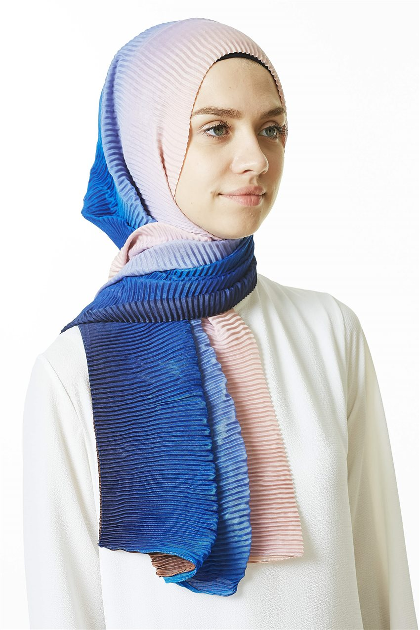Shawl-07 Blue-Powder - 7