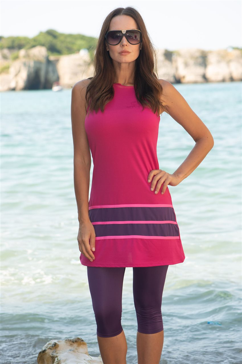 Covered Swimsuit-Fuchsia 1806-43 - 6