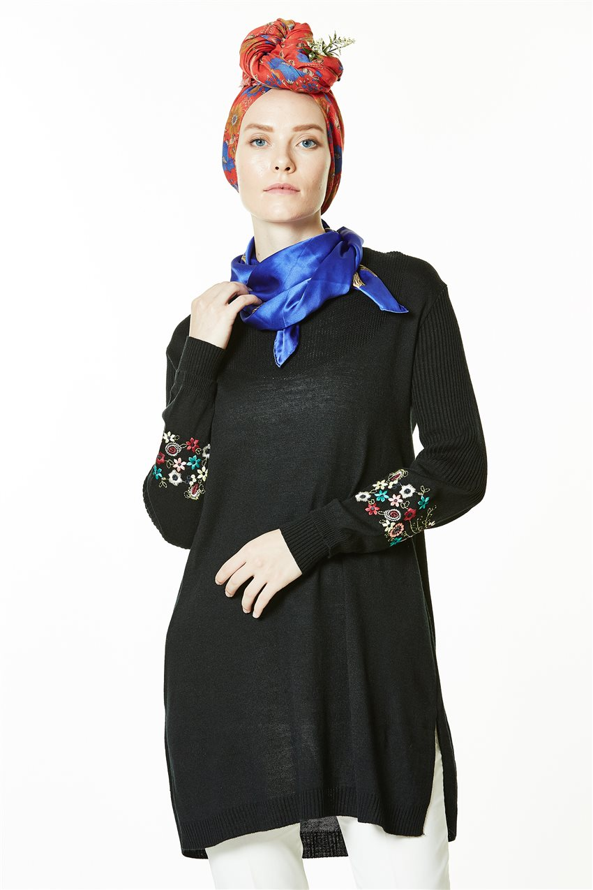 Knitwear Tunic-Black 1020-01 - 7