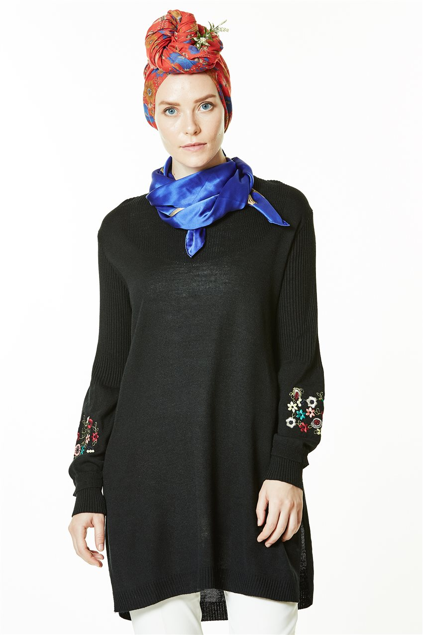 Knitwear Tunic-Black 1020-01 - 6