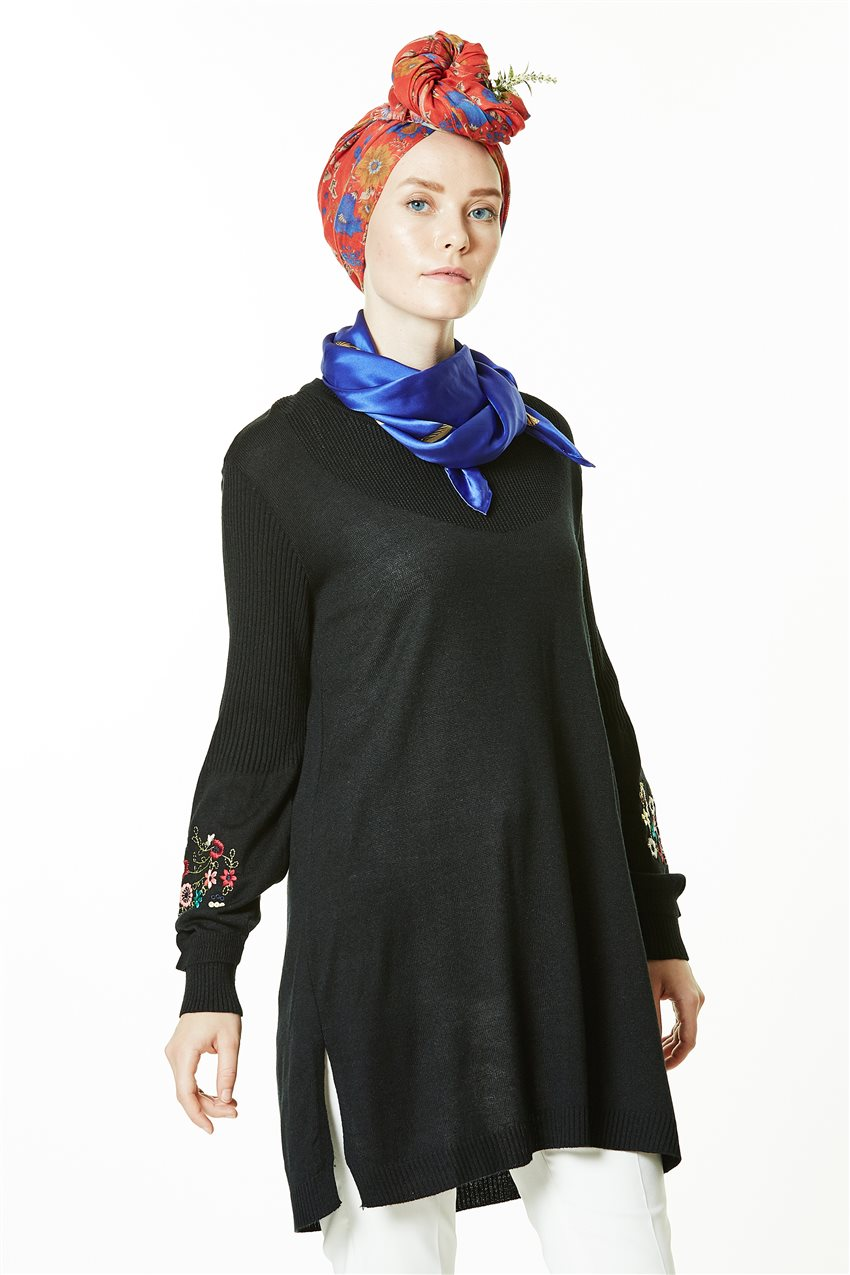 Knitwear Tunic-Black 1020-01 - 9
