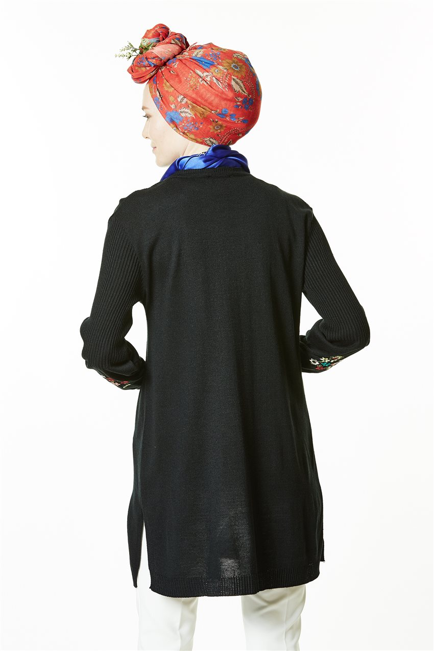 Knitwear Tunic-Black 1020-01 - 10
