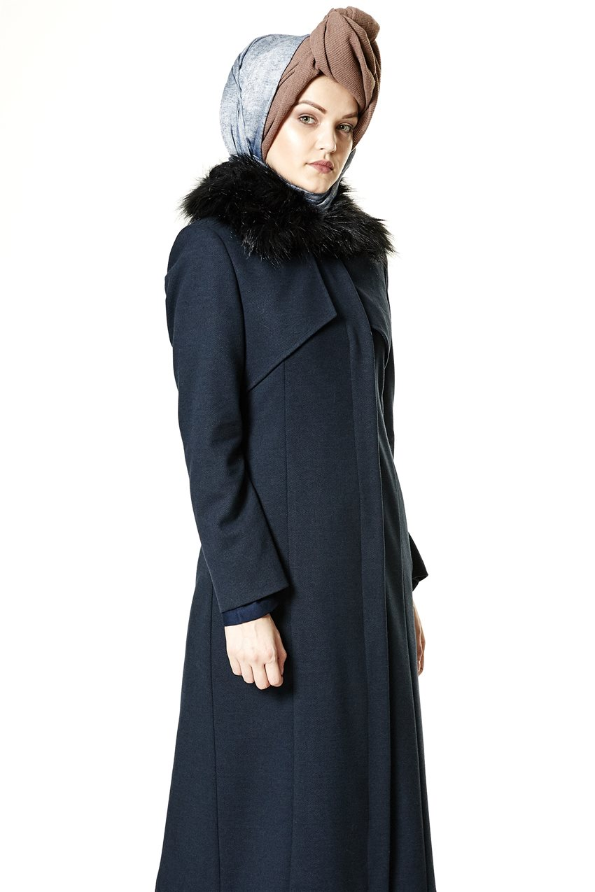 Coat-Navy Blue A2132-08 - 7