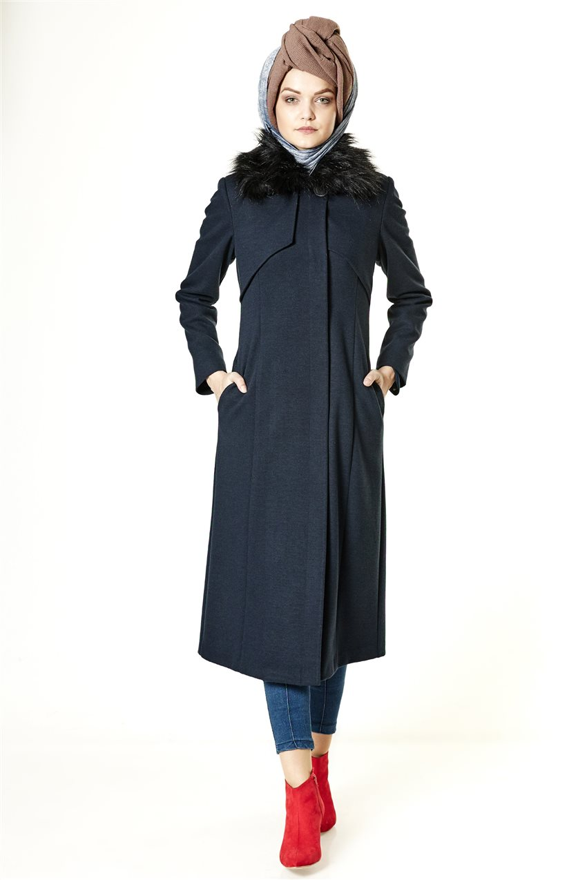 Coat-Navy Blue A2132-08 - 6