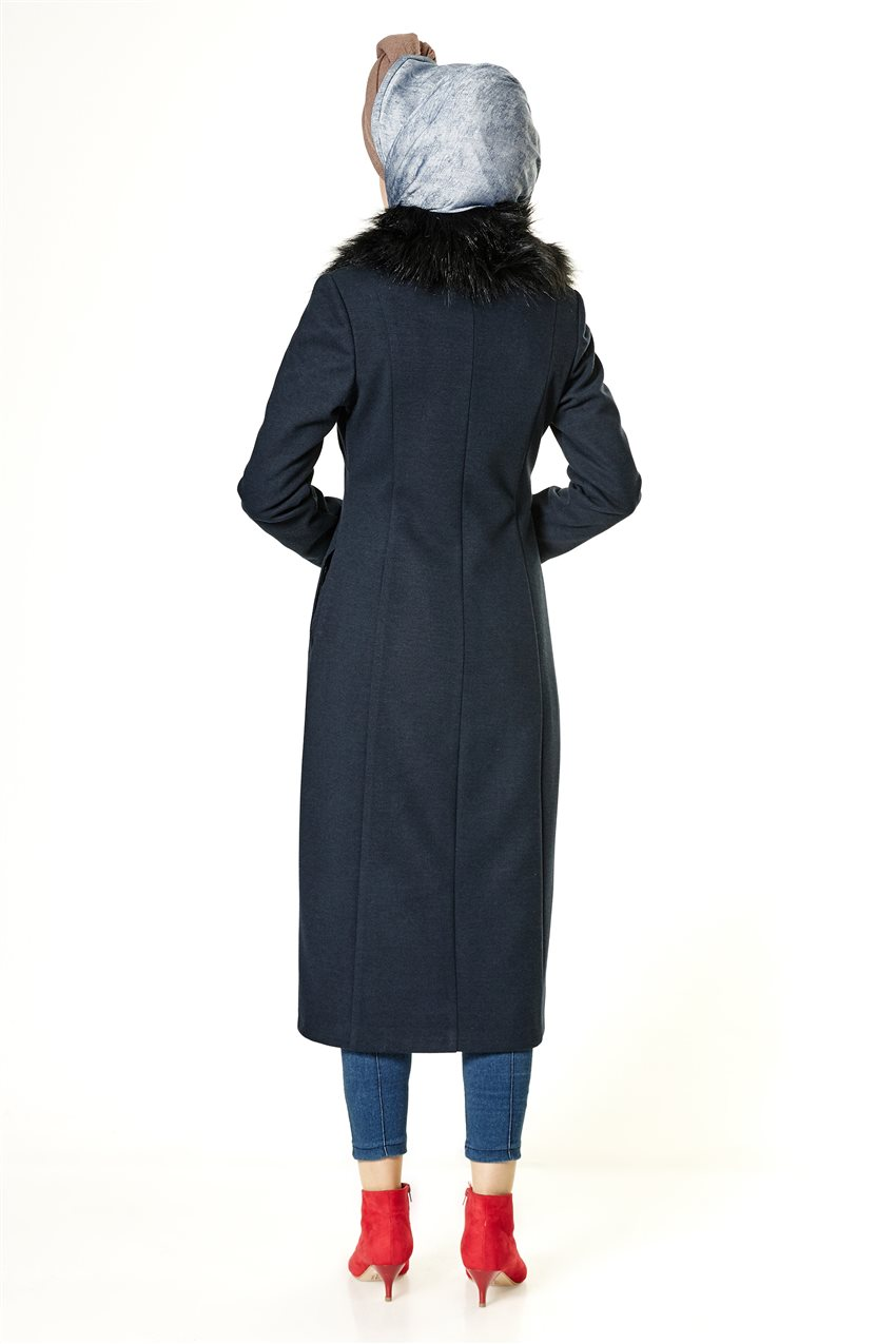 Coat-Navy Blue A2132-08 - 10