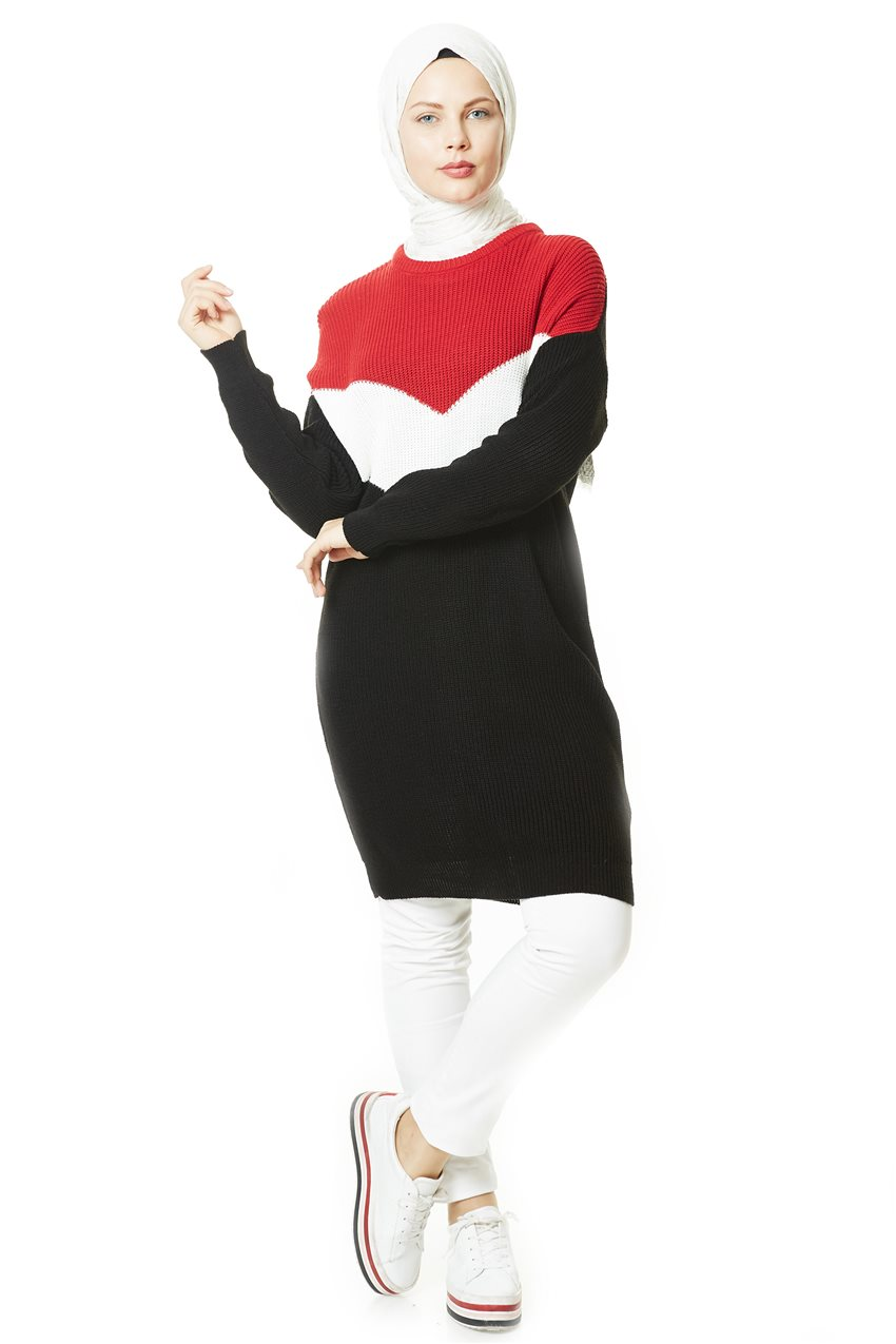 Knitwear-Red White PL0001-3402 - 8