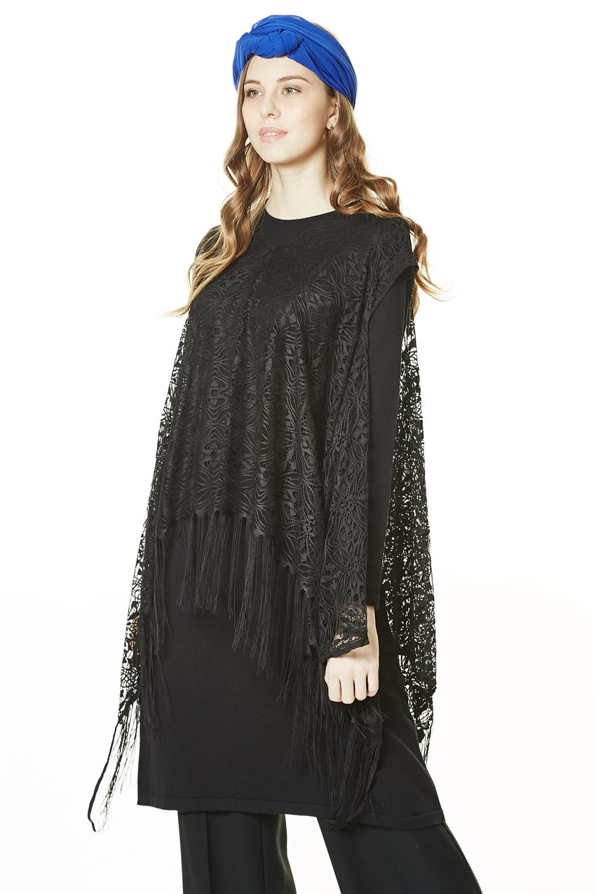 Knitwear Tunic-Black TK-L4062-09 - 6