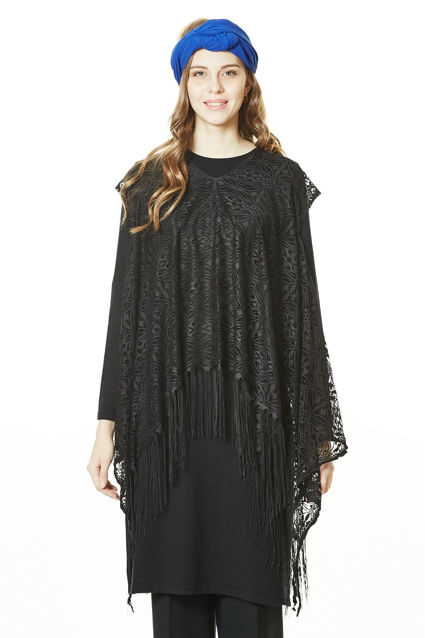 Knitwear Tunic-Black TK-L4062-09 - 7