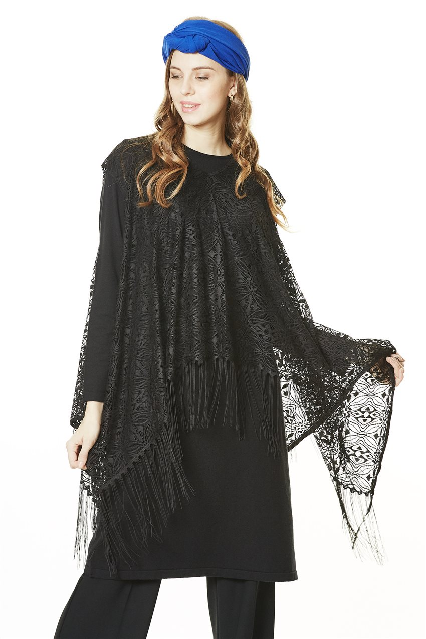 Knitwear Tunic-Black TK-L4062-09 - 8