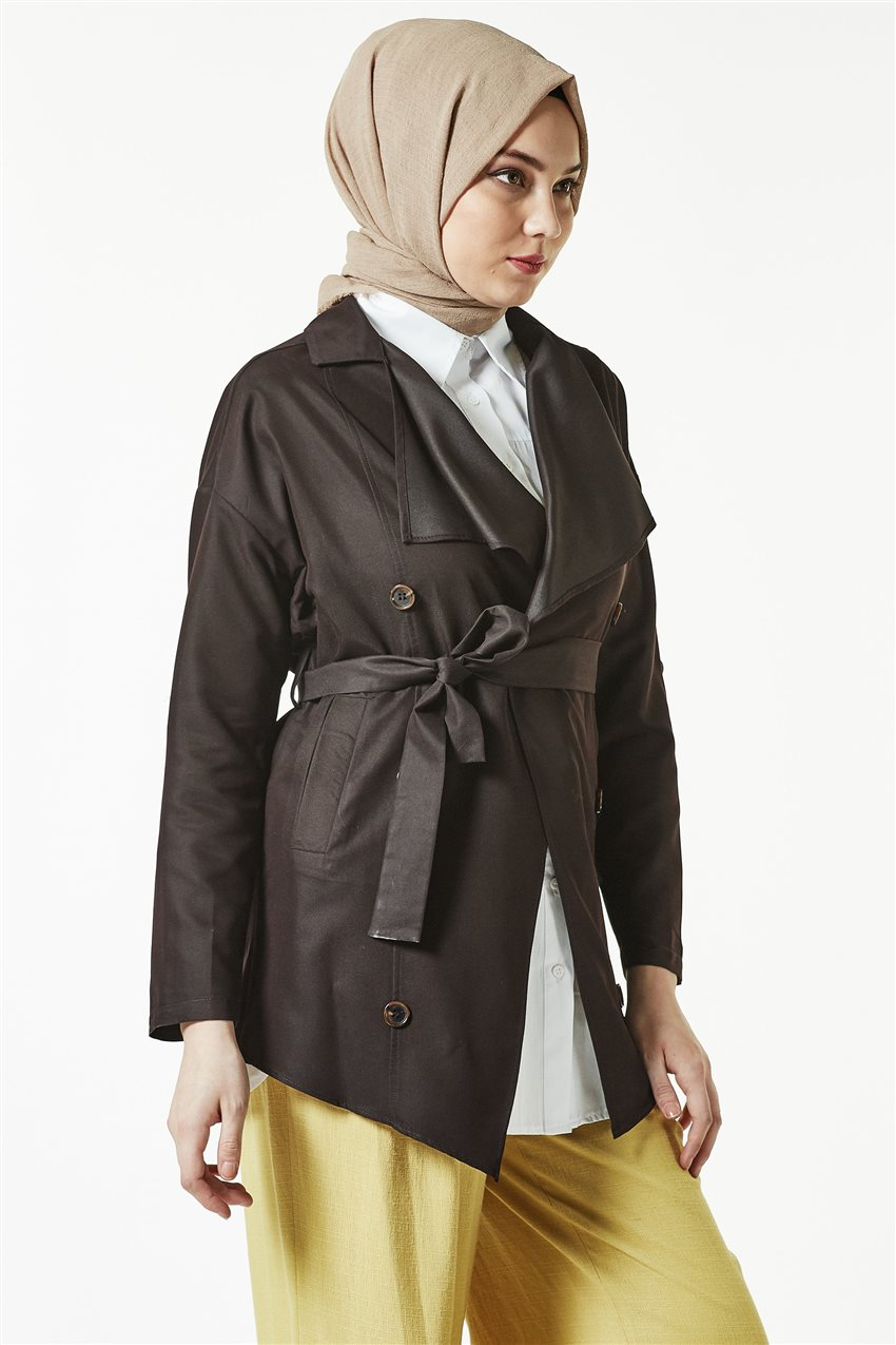 Trench Coat-Dark Brown TRN 7589-10 - 8