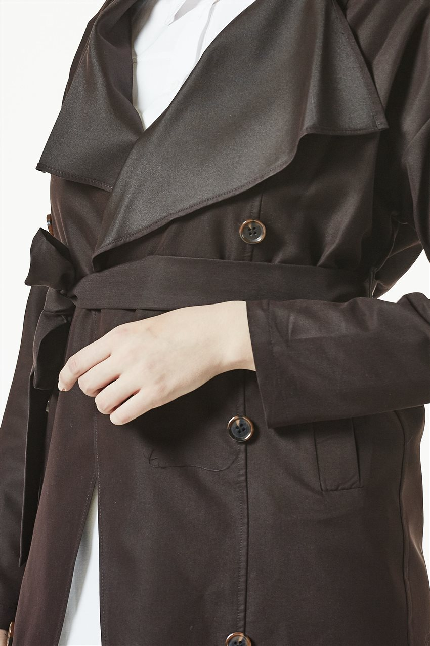 Trench Coat-Dark Brown TRN 7589-10 - 9