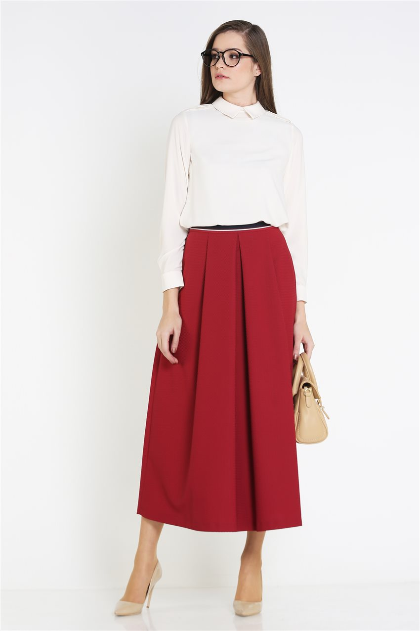 Kyr Skirt-Claret Red KY-B9-72025-26 - 9
