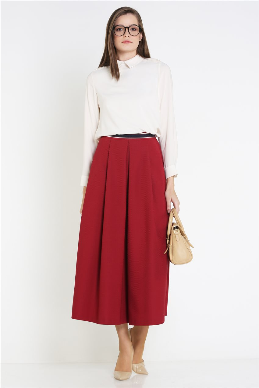 Kyr Skirt-Claret Red KY-B9-72025-26 - 10