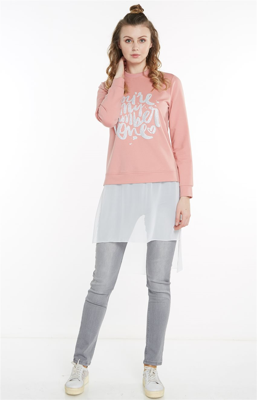 Sweatshirt-Pembe 19Y-MM21.0144-42 - 11