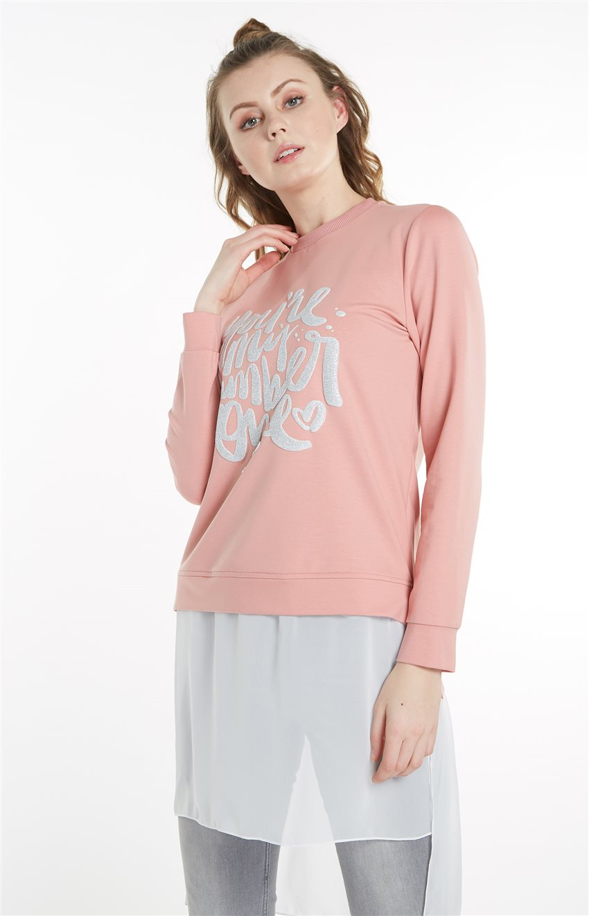 Sweatshirt-Pembe 19Y-MM21.0144-42 - 7