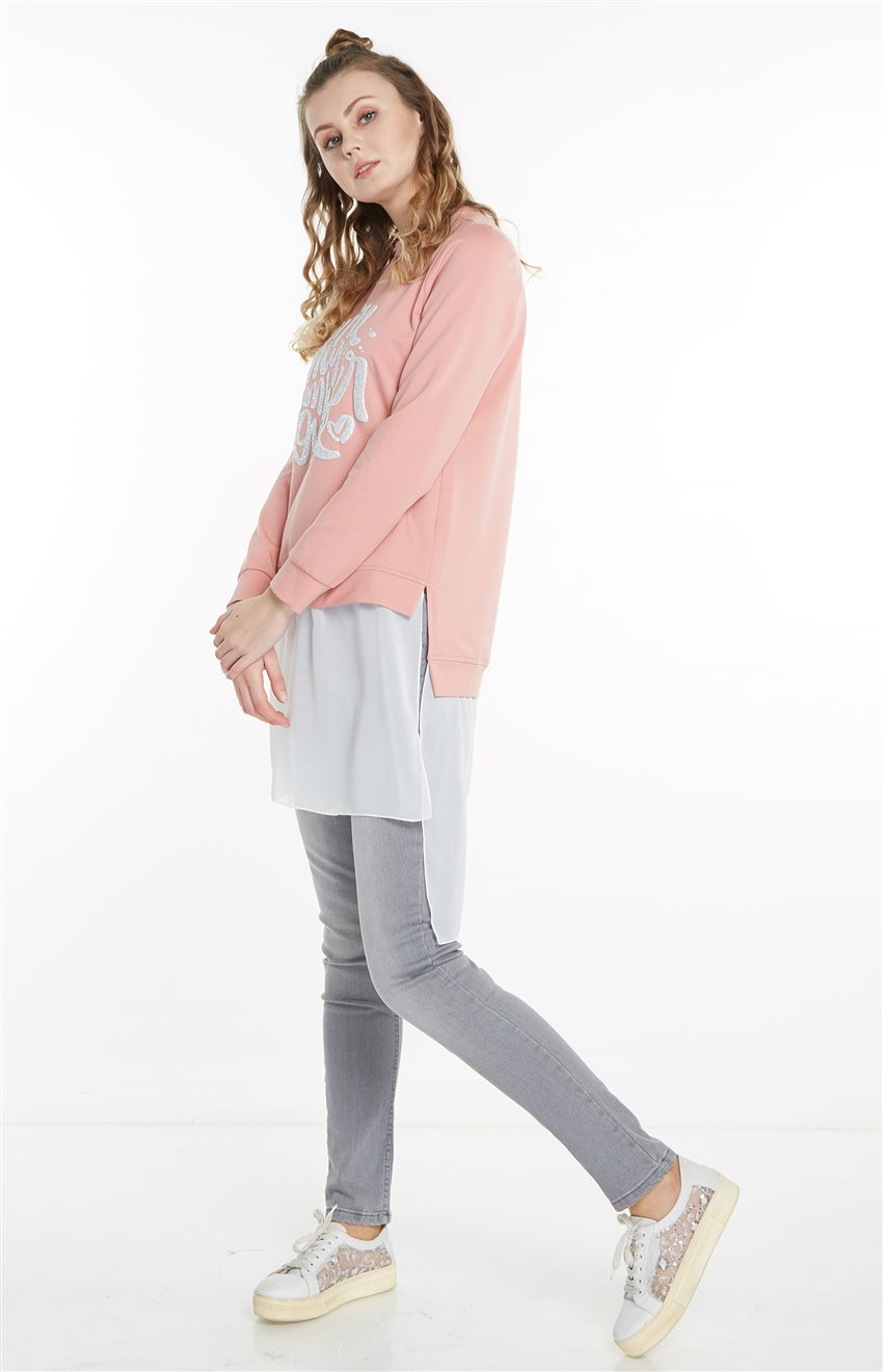 Sweatshirt-Pembe 19Y-MM21.0144-42 - 9