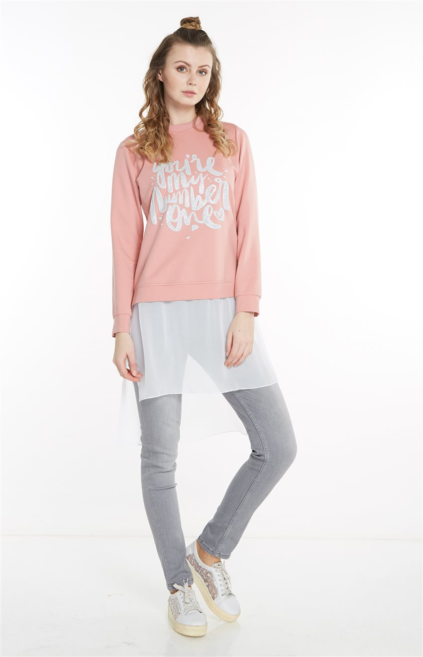 Sweatshirt-Pembe 19Y-MM21.0144-42 - 8