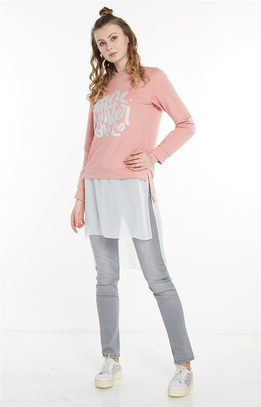 Sweatshirt-Pembe 19Y-MM21.0144-42 - 10