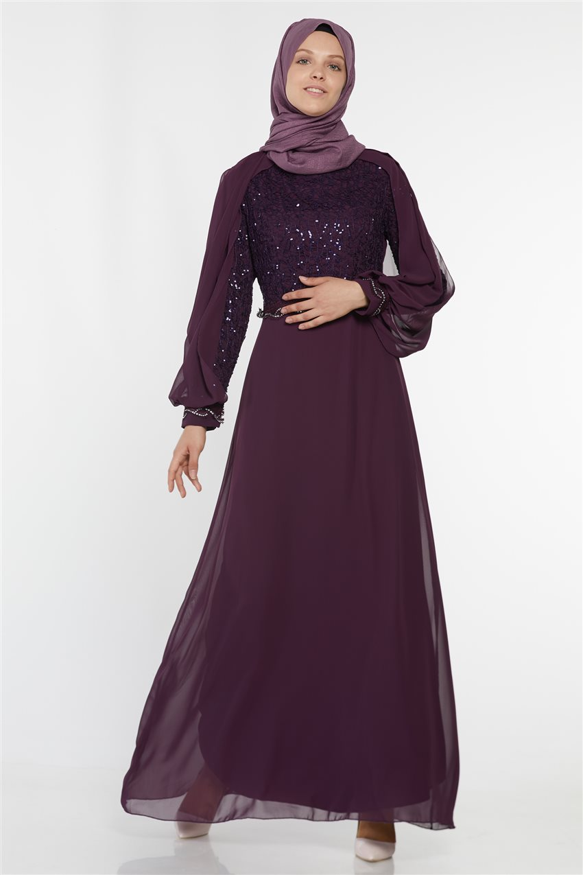Evening Dress-Purple UN-52736-45 - 7