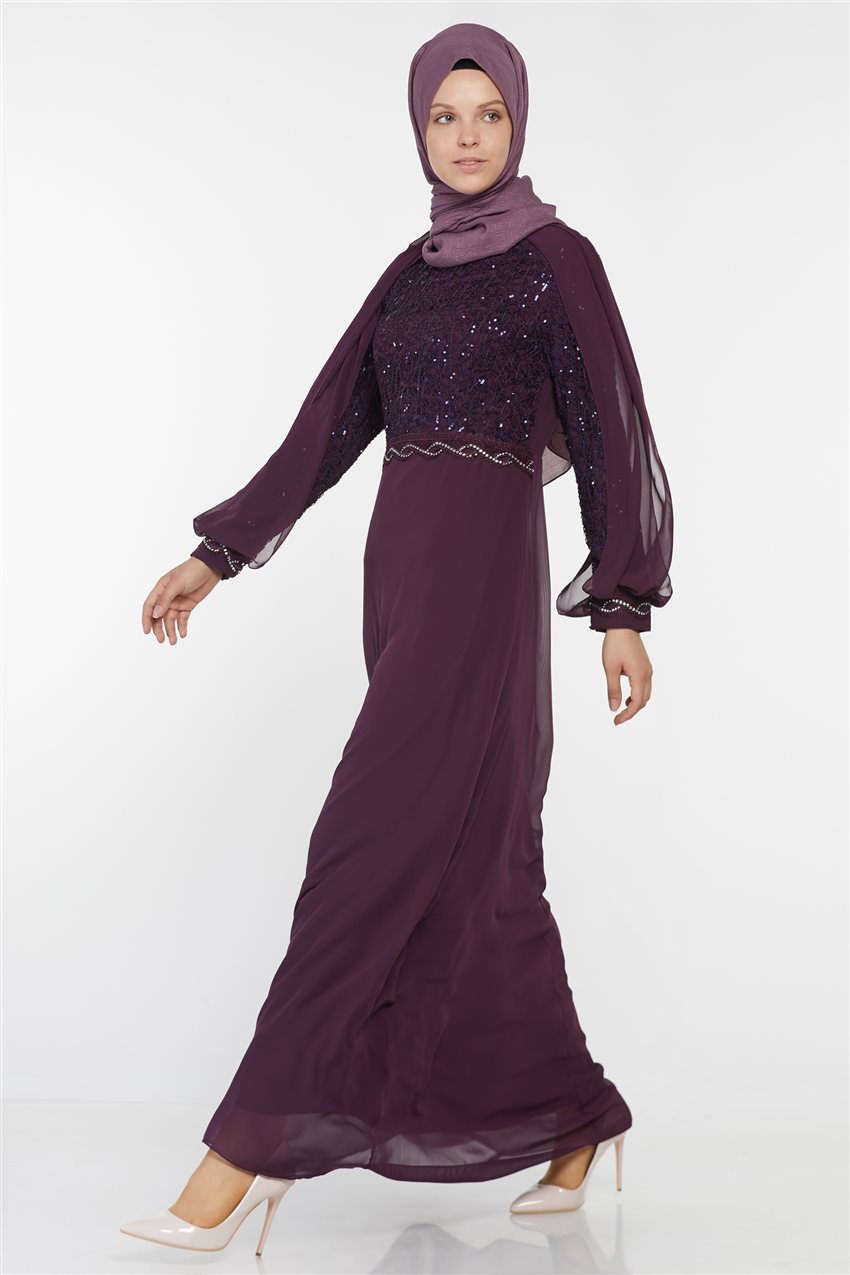 Evening Dress-Purple UN-52736-45 - 6