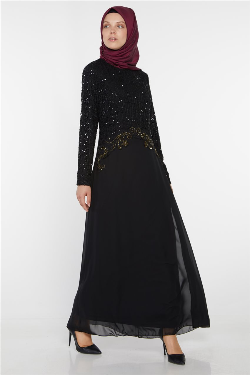 Evening Dress-Black UN-3011-01 - 5