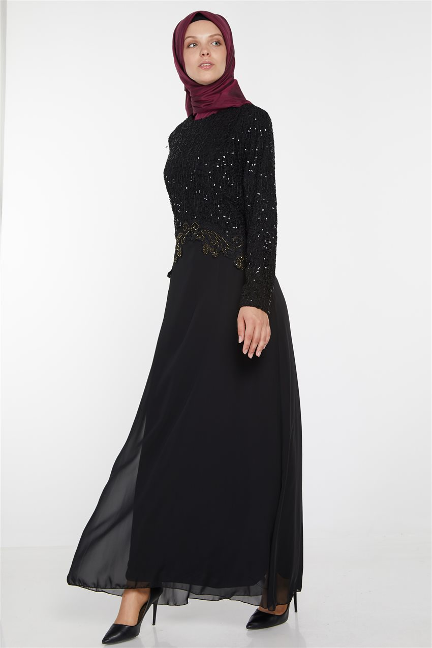 Evening Dress-Black UN-3011-01 - 6