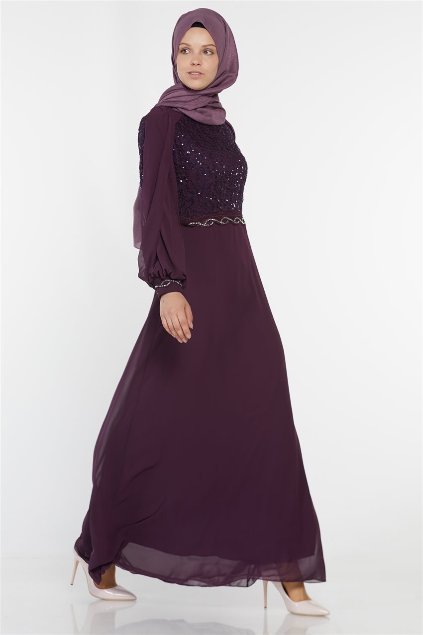 Evening Dress-Purple UN-52736-45 - 8