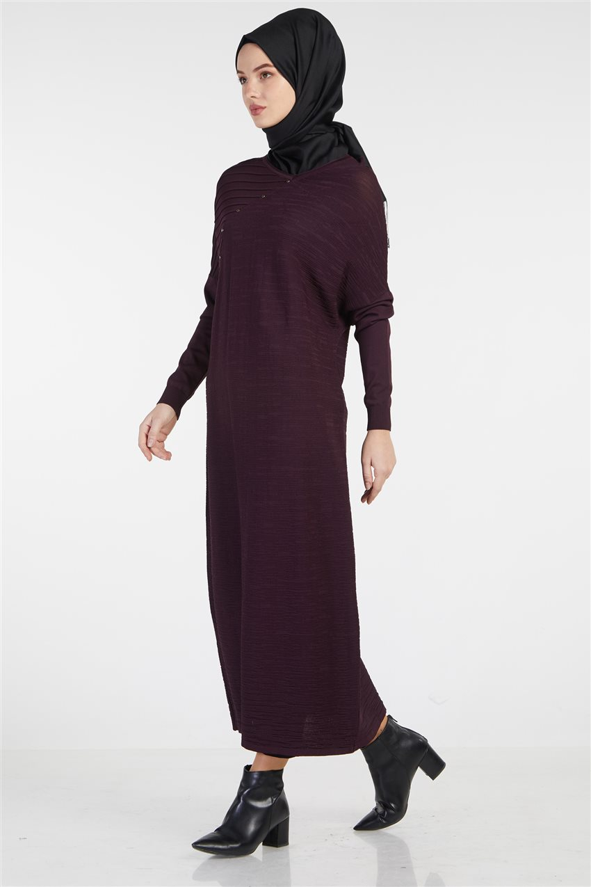 Knitwear Dress-Plum TK-Z4210-10 - 6