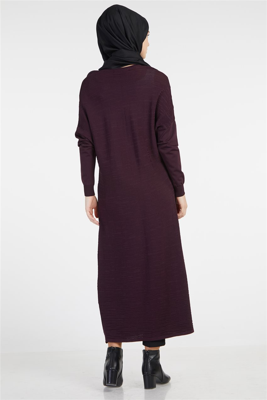Knitwear Dress-Plum TK-Z4210-10 - 8