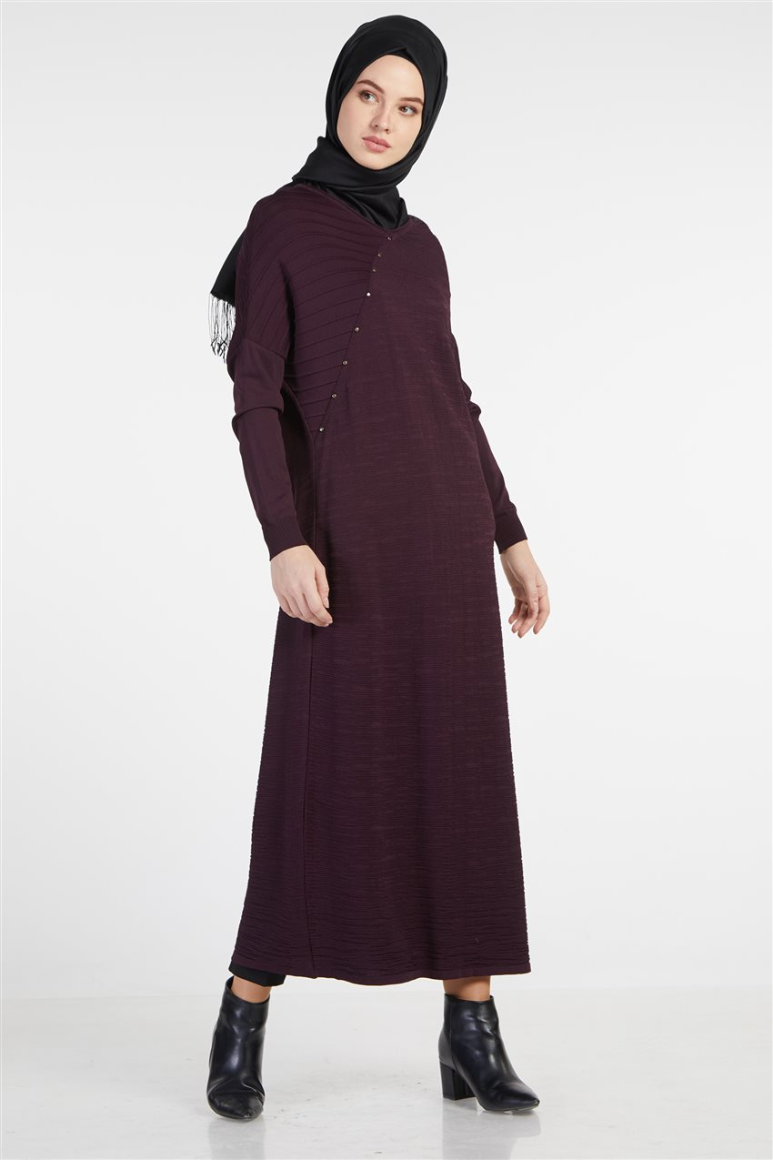 Knitwear Dress-Plum TK-Z4210-10 - 5